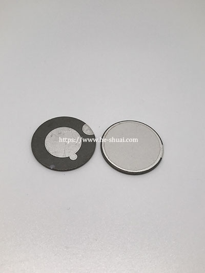 piezoelectric disk for atomization