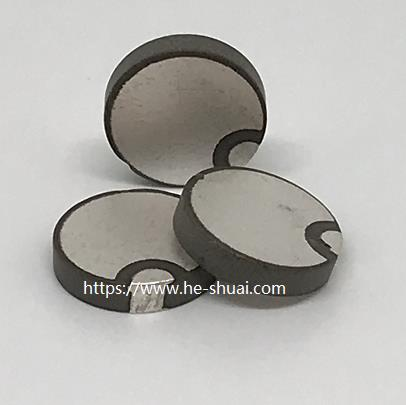 PZT-4 material piezo disk OD 10 mm with wrap silver electrode