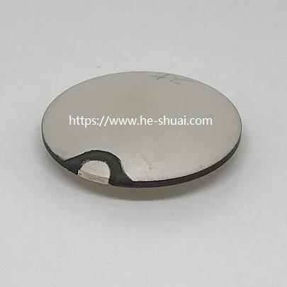 Piezo sphere OD 25mmx R33mmx 2MHz with wrap silver electrode