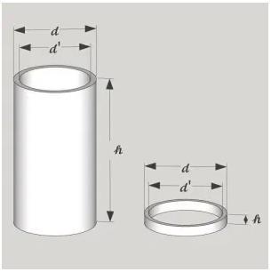 Piezo tube dimension