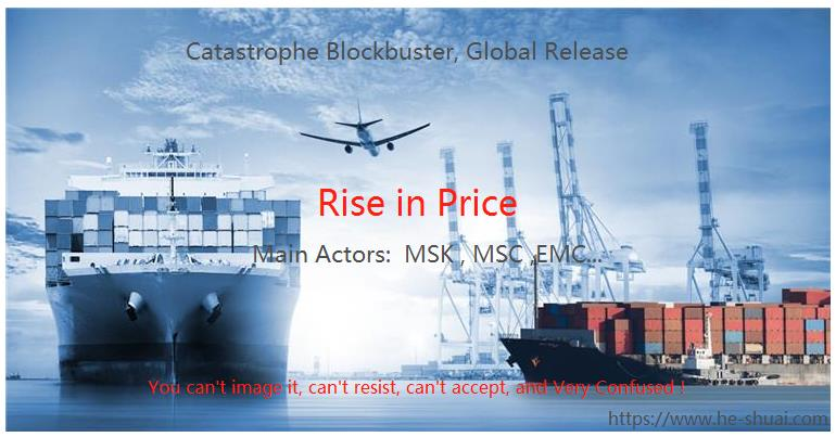 Rise in price by ocean freight
