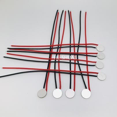 piezoelectric flow meter - piezo disc with wire